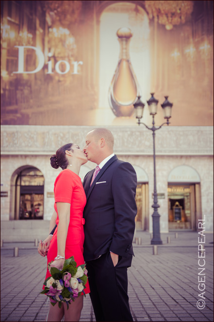 photo de mariage place Vendome - Paris