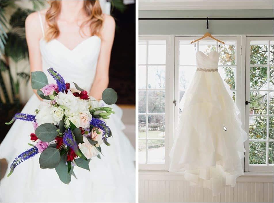 Composition bouquet et robe