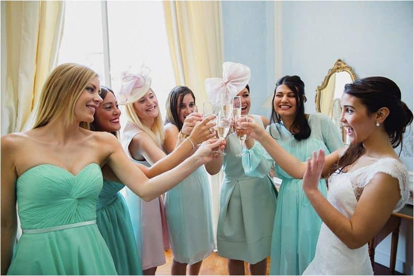 Les demoiselles d'honneur sont à la fête