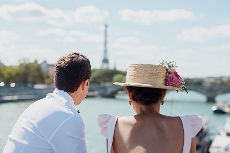 mariage autour de la tour Eiffel