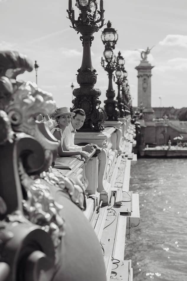 Séance couple au Pont Alexandre III