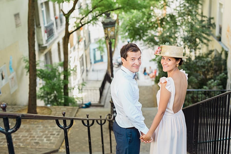 Séance couple à Montmartre