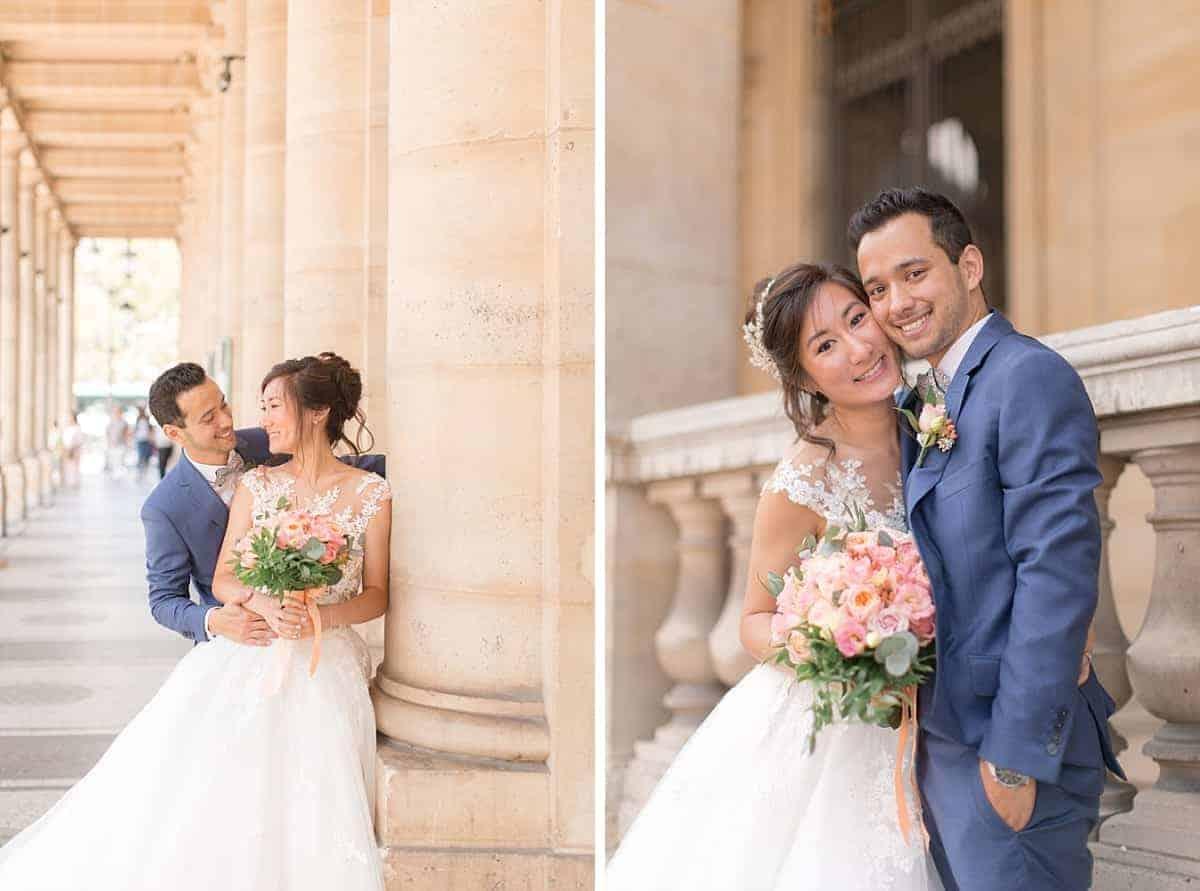 Les mariés à Paris