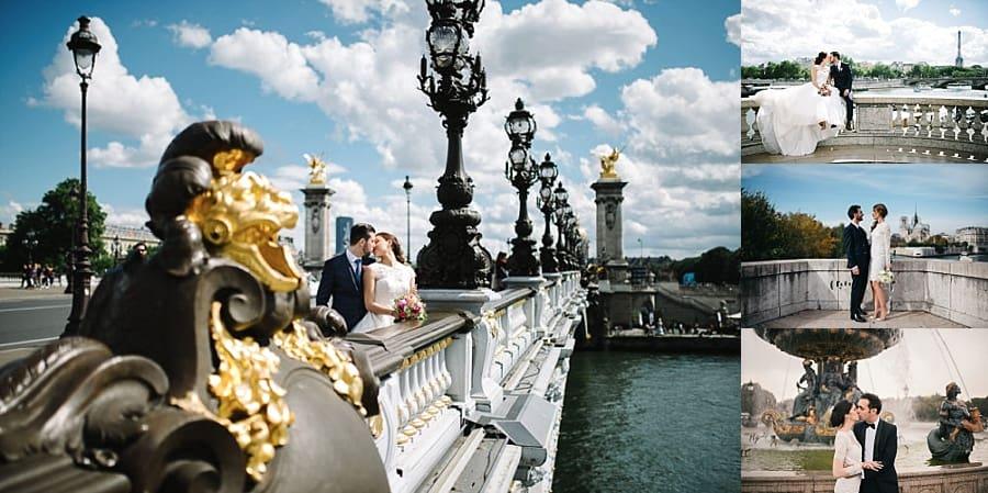 Shooting photo de couple à paris en fin de matinée