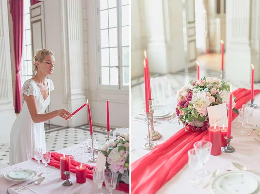 Présentation et détails de la table mariage