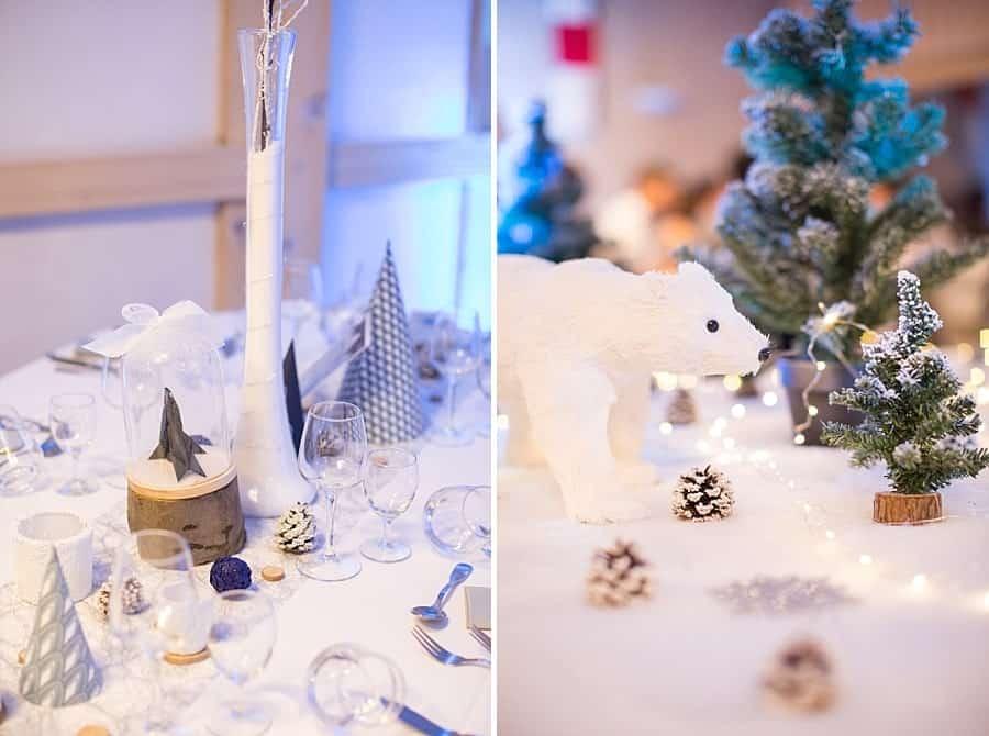 table de mariage thématique hiver