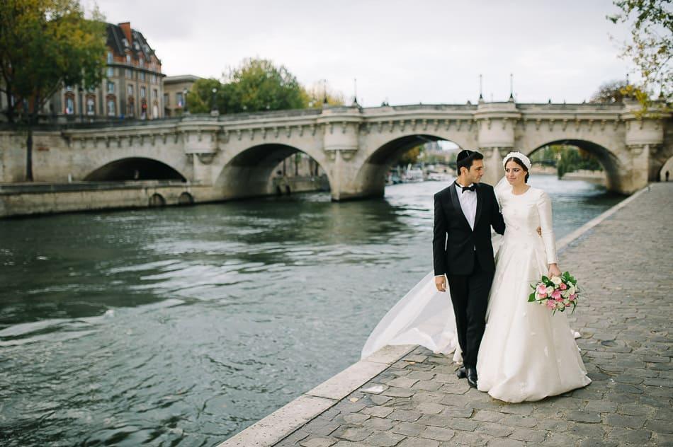 Mariage quais de Seine