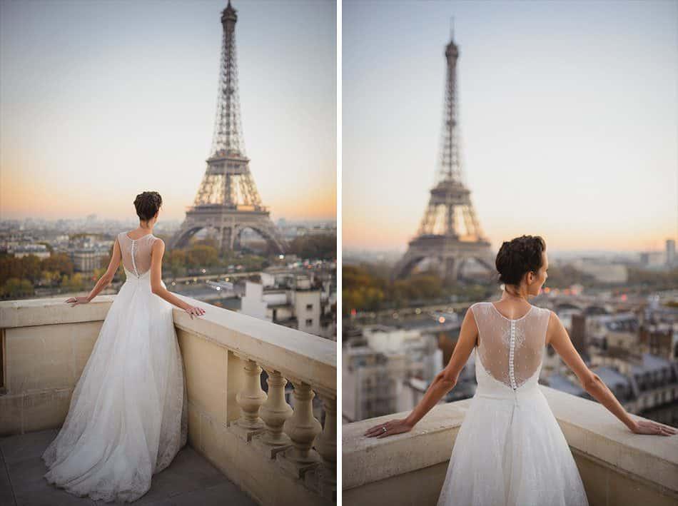 Somptueux lever de soleil sur la Tour Eiffel