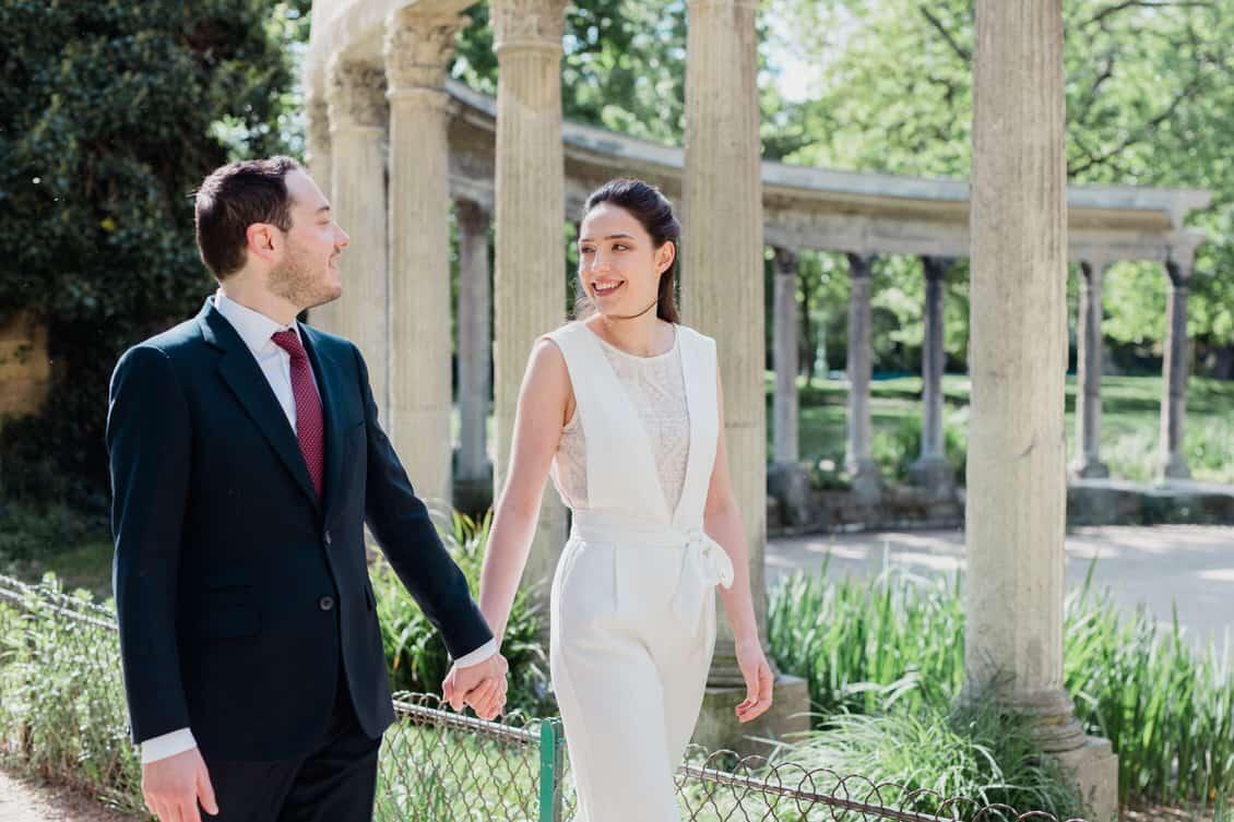 mariage au parc monceau