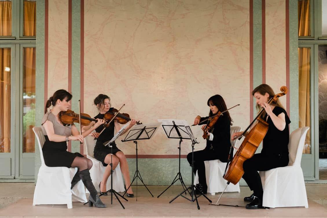 Un quatuor de musique classique