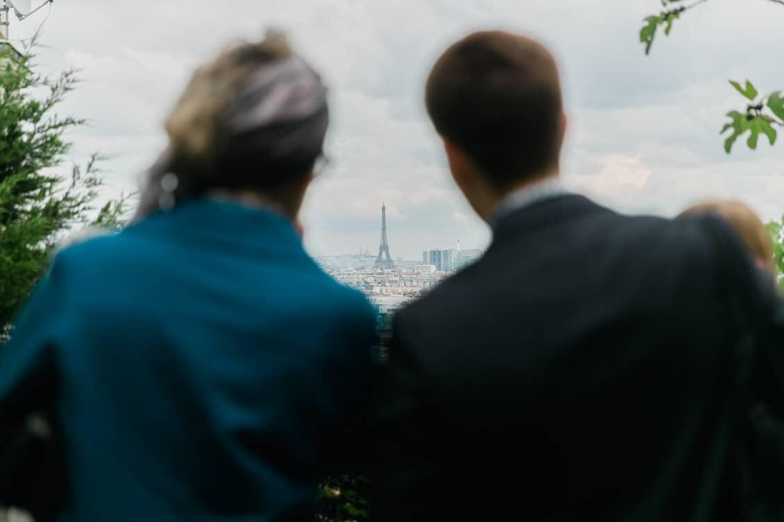 Sublime vue de la tour Eiffel