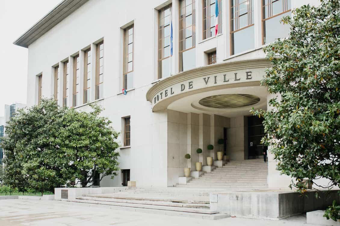 La façade avant de la mairie de Boulogne-Billancourt