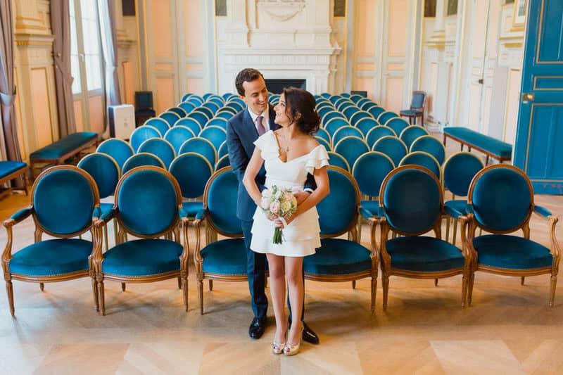mariés dans la mairie du 16eme arrondissement de paris