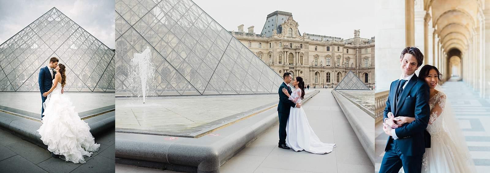 photo de couple aux louvres pour un mariage