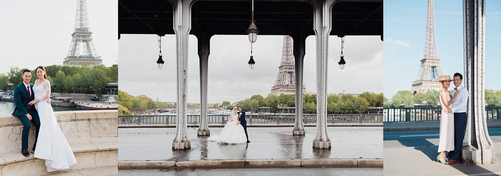 mariés au pont parisien bir hakeim