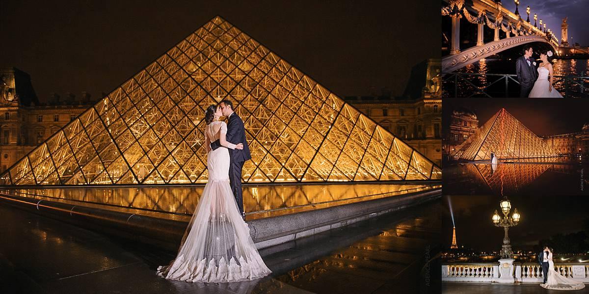 mariage à paris la nuit