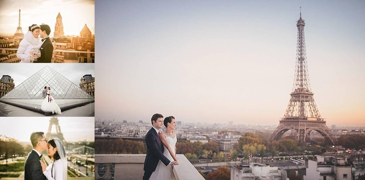 Photo de couple à paris au lever du soleil